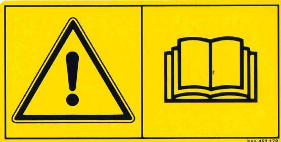 Warnschild Betriebsableitung lesen