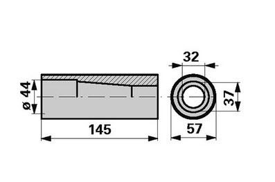 Zentriekonus für Gabelzinken M 28 - 145