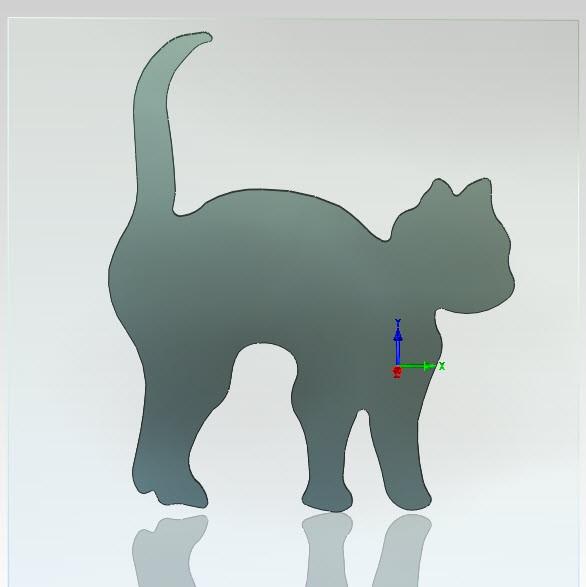 Figur Katze Stahlblech 3 mm