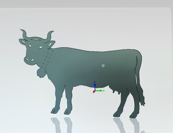 Kuh Figur aus Stahlblech